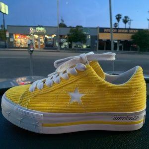 Converse One Star Platform Ox MadeMe Vibrant Yello